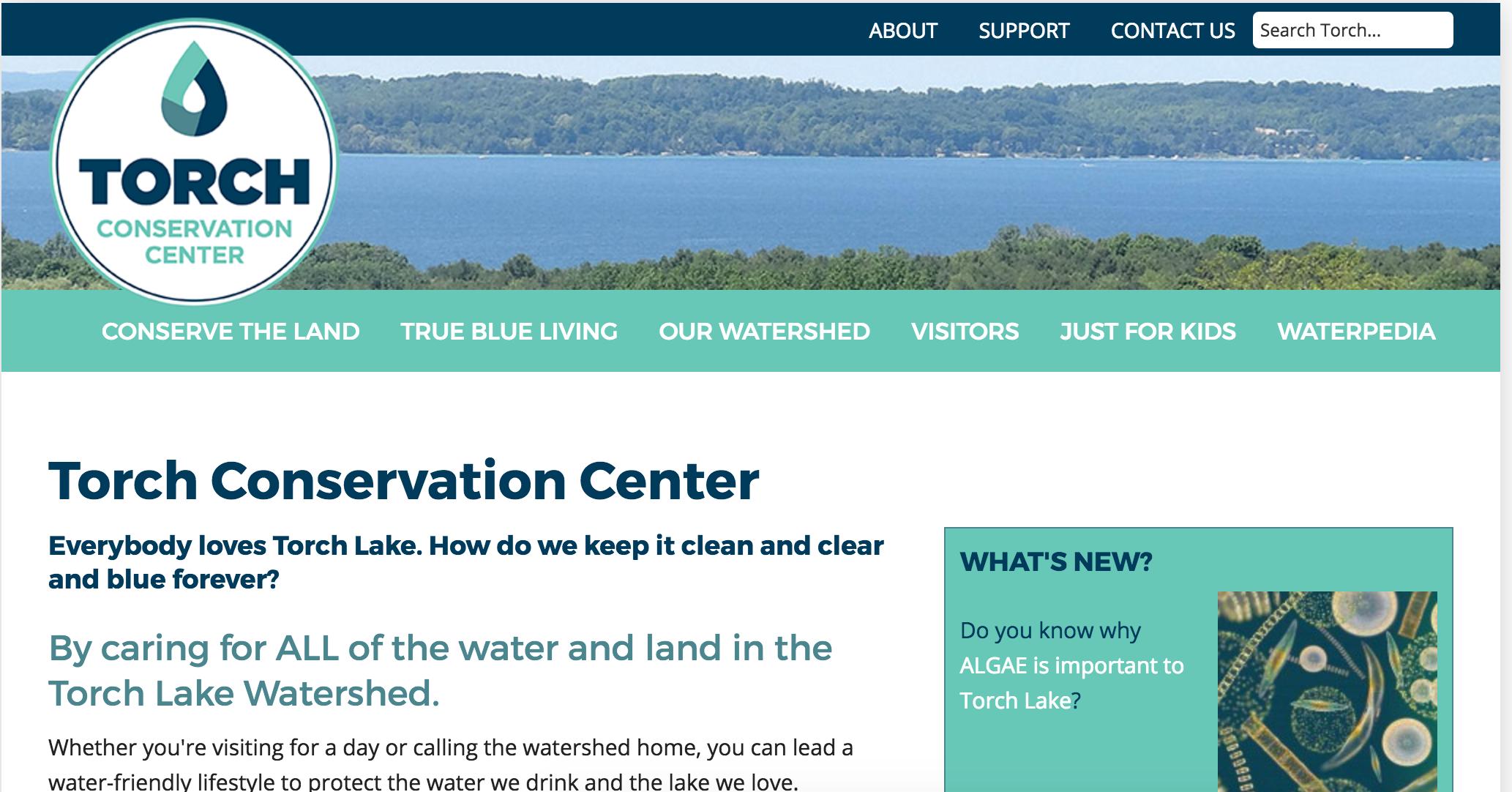 conservetorch.org homepage