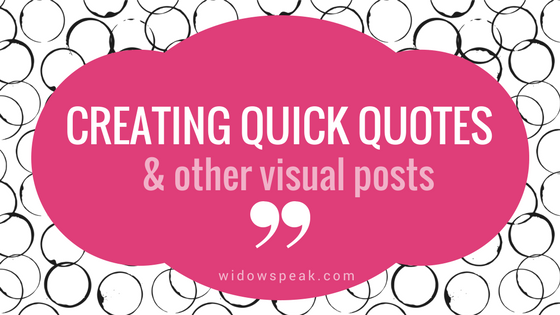 How to create a quick quote graphic