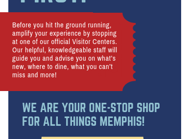 Memphis Visitor Center Rack Card